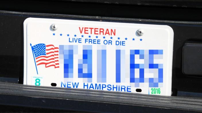 New Hampshire Veteran Kennzeichen