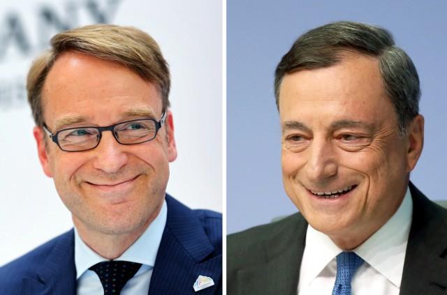 Jens Weidmann und Mario Draghi