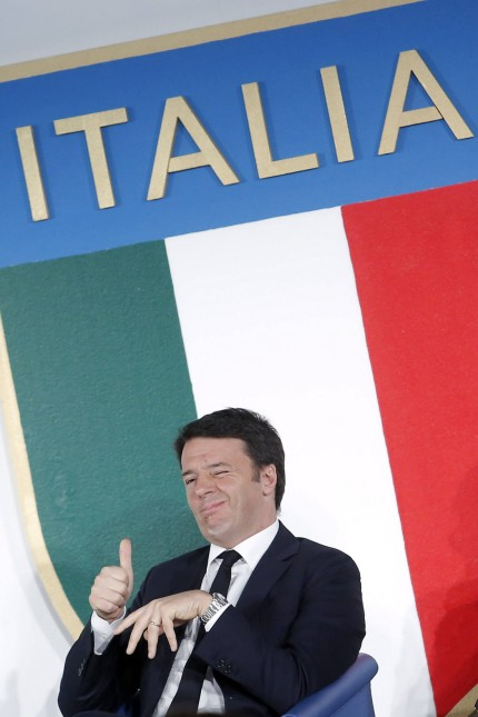 Matteo Renzi Rom 15 12 2015 Ehrung im italienischen Sport Collari d Oro PUBLICATIONxNOTxINxI