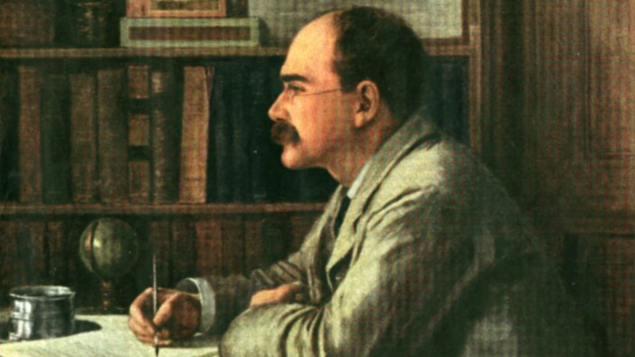 Rudyard Kipling 1865 1936 From the painting by Sir Philip Burn Jones English author and poet