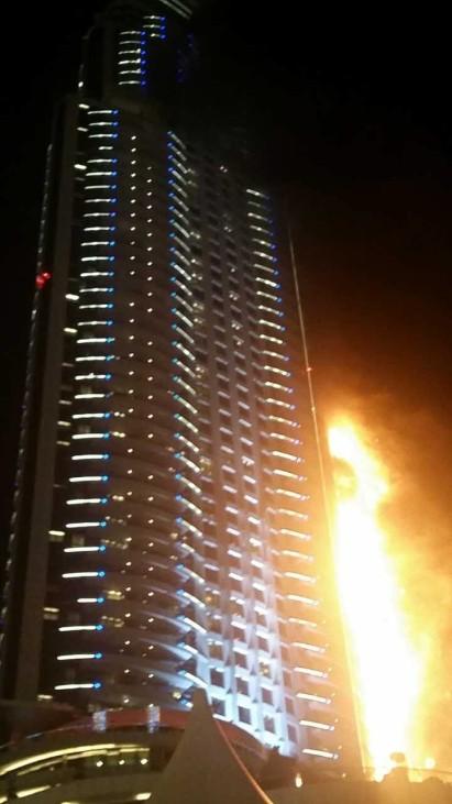 Fire in Dubai Skyscraper