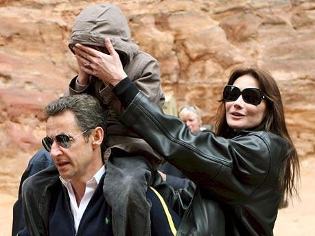 Sarkozy, Bruni, Jordanien, dpa