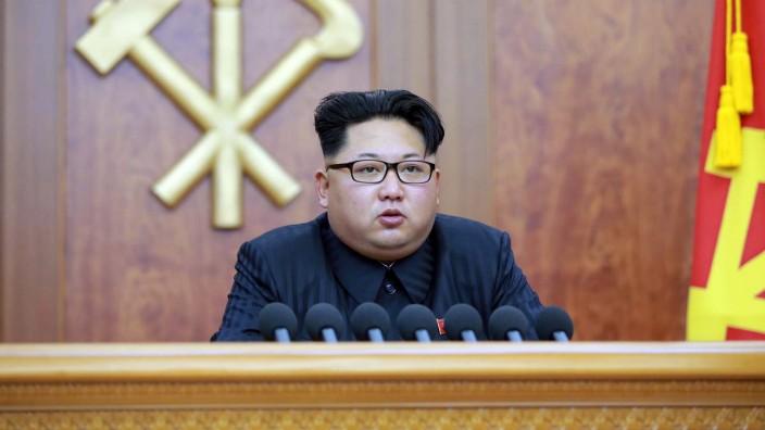 Nordkorea: Damals war von Atombomben keine Rede: Kim Jong Un bei seiner Neujahrsansprache