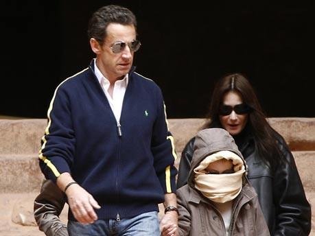 Sarkozy, Bruni, Jordanien, AFP