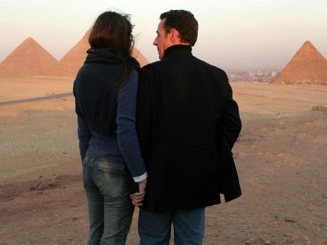 Sarkozy, Bruni, Jordanien, Ägypten, AFP