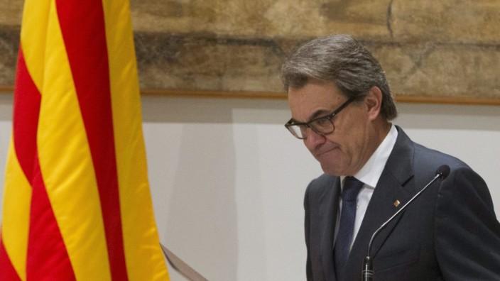 Catalonian acting President Artur Mas