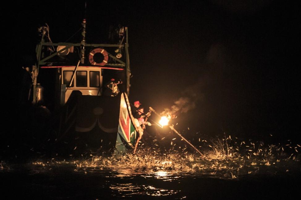 Fire Fishing; Reisefotograf Craig Ferguson Taiwan Asien