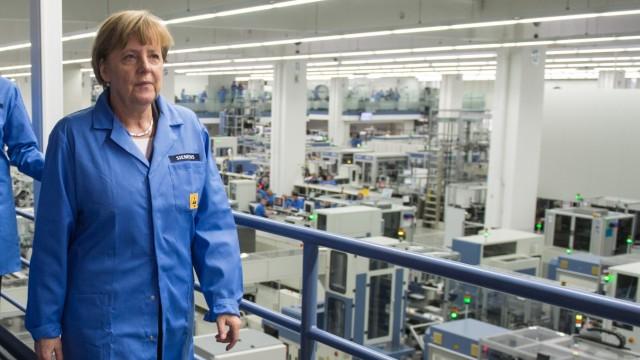 Merkel besucht Siemens in Amberg