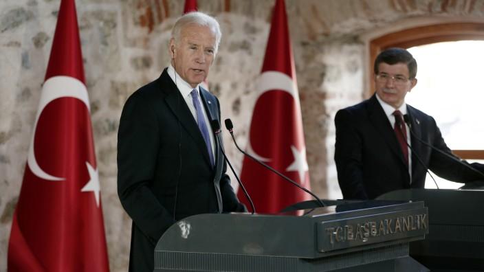 Ahmet Davutoglu, Joe Biden