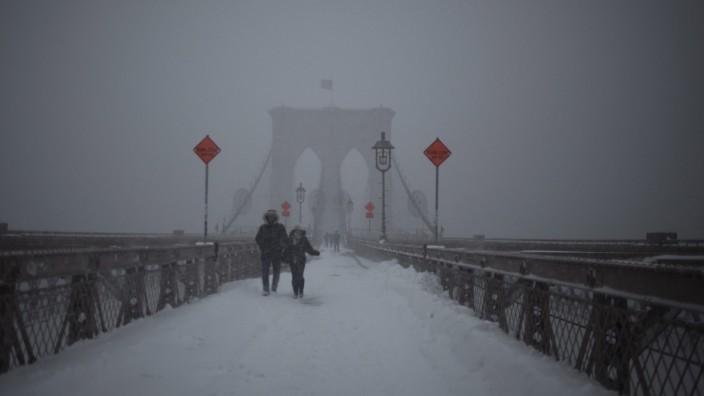 Winter storm in New York City