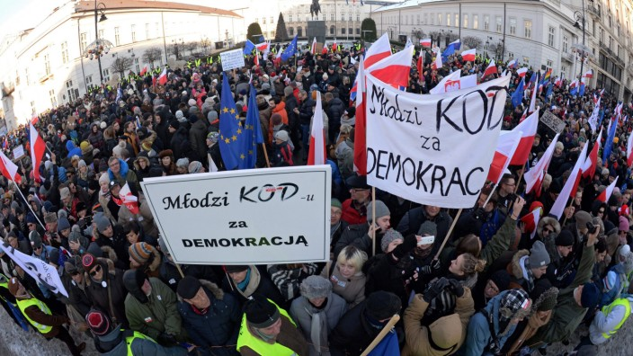Polish Committee for the Defence of Democracy demo in Warsaw
