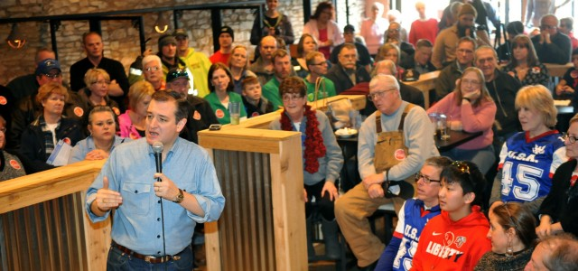 GOP Presidential Candidate Ted Cruz Campaigns In Iowa