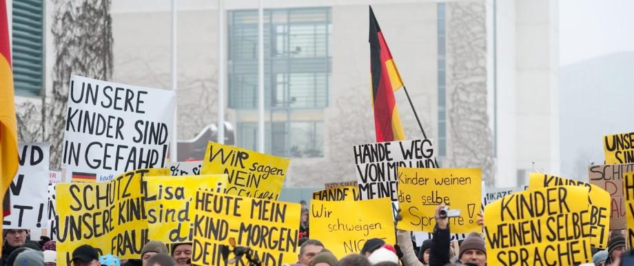 'Bärgida'-Demonstration in Berlin