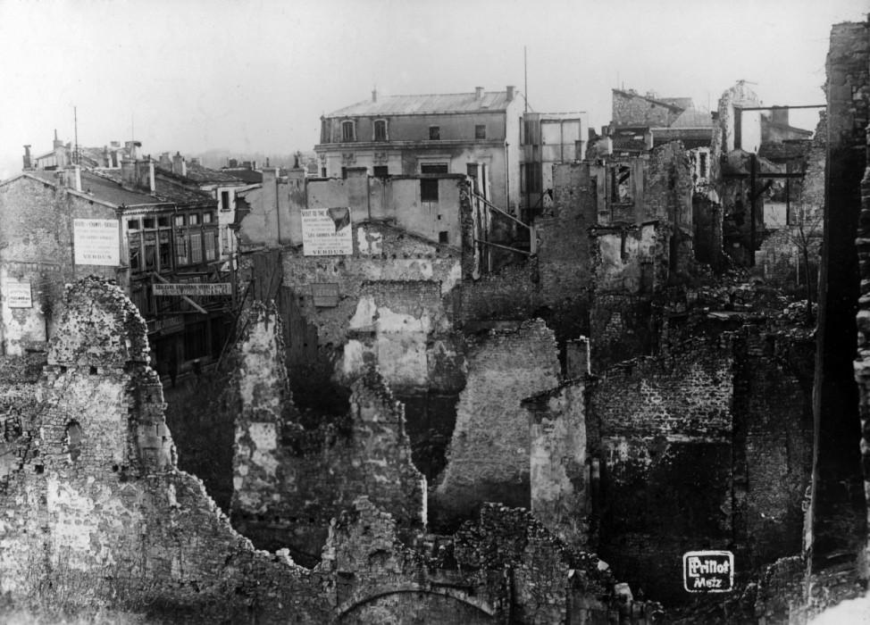 Zerstörte Festung von Verdun, 1919