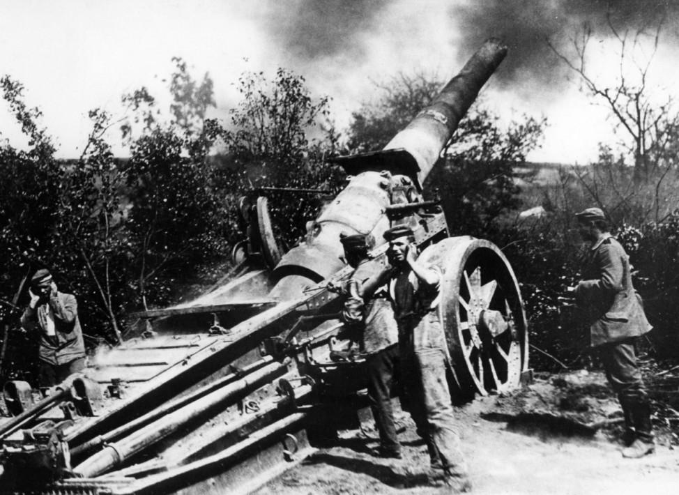 Deutsche Artillerie bei der Schlacht von Verdun, 1916