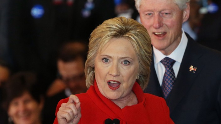 Hillary Clinton Holds Iowa Caucus Night Gathering In Des Moines