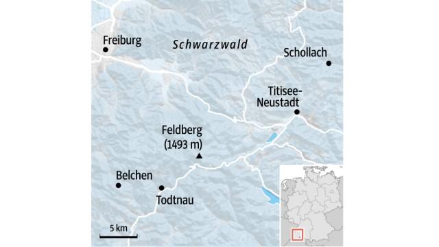 Wintersport im Schwarzwald: SZ-Karte