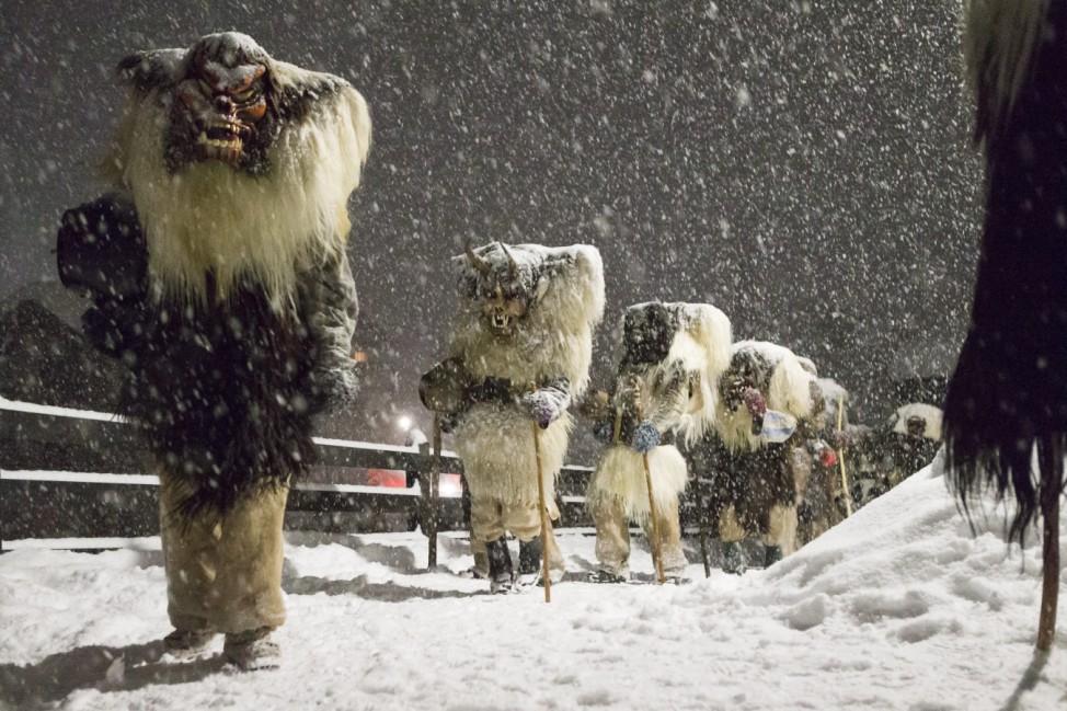 Tschaeggaettae carnival in Switzerland