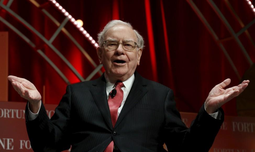 Warren Buffett, chairman and CEO of Berkshire Hathaway, speaks at the Fortune's Most Powerful Women's Summit in Washington