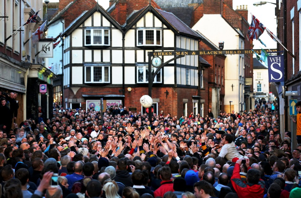 BESTPIX - Annual Shrovetide Football Match Takes Place In Ashbourne
