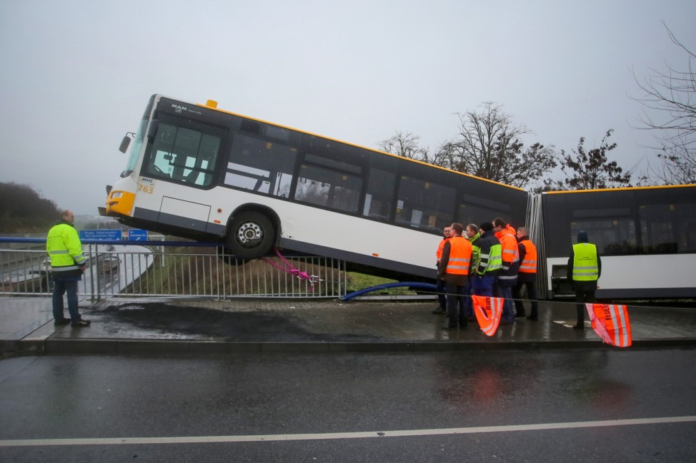 Bus Unfall in Mainz