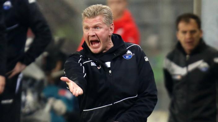 Sandhausen Fußball SV Sandhausen vs SC Paderborn 07 Trainer Stefan Effenberg Paderborn ärgert s