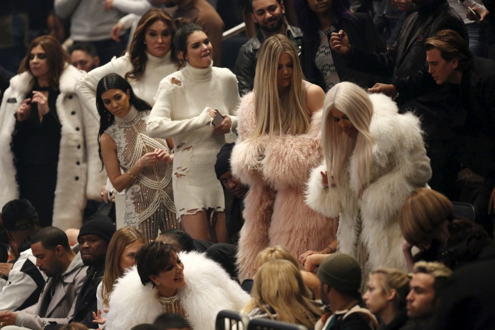 Caitlyn Jenner, Kourtney Kardashian, Kendall Jenner, Khloe Kardashian and Kim Kardashian attend Kanye West's Yeezy Season 3 Collection presentation and listening party during New York Fashion Week