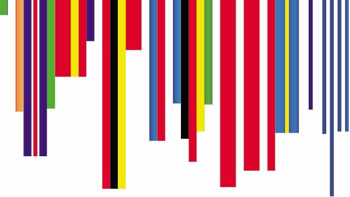 Europa: SZ-Grafik/Nach Flaggenentwurf von Rem Koolhaas