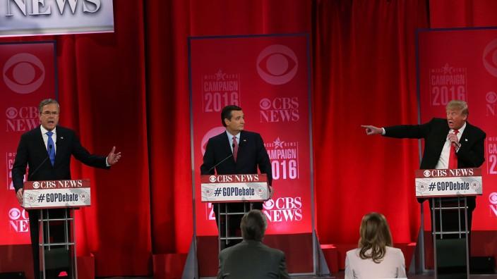 Donald Trump Ted Cruz Jeb Bush 9/11 TV-Debatte Republikaner