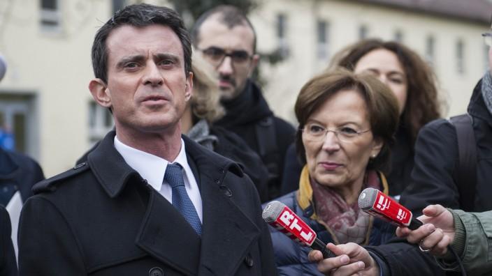 Französischer PM Valls besucht Erstaufnahmeeinrichtung