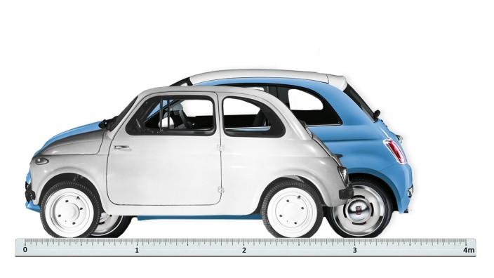 Design: Der Fiat 500 hat in der Neuauflage ordentlich zugenommen.