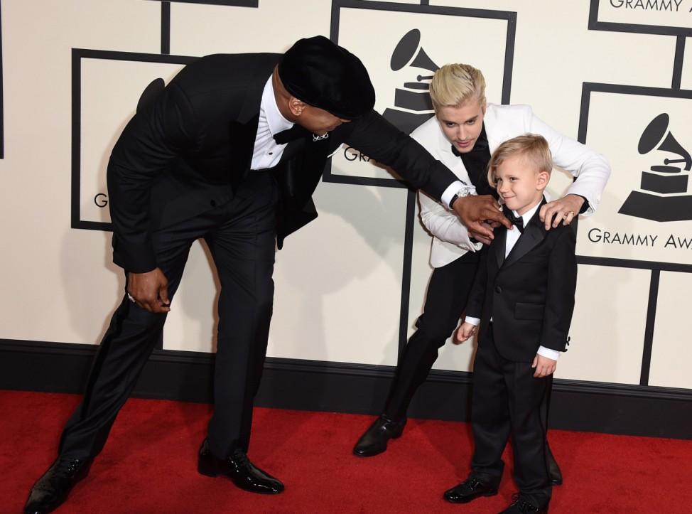 LL Cool J, Jaxon Bieber, Justin Bieber