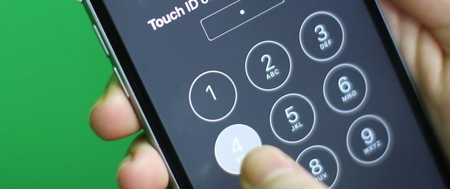 Entsperrung eines iPhone