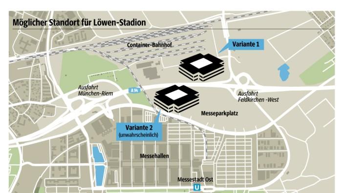 Grafik neues Stadion für den TSV 1860 in Riem
