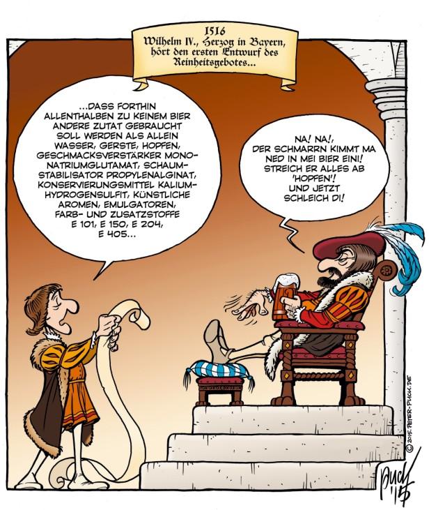Biercomic - Volk-Verlag - Reinheitsgebot