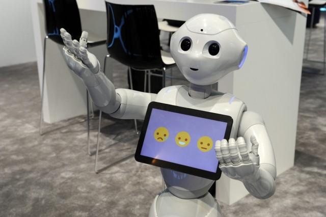 Roboter 'Pepper' beim Mobile World Congress