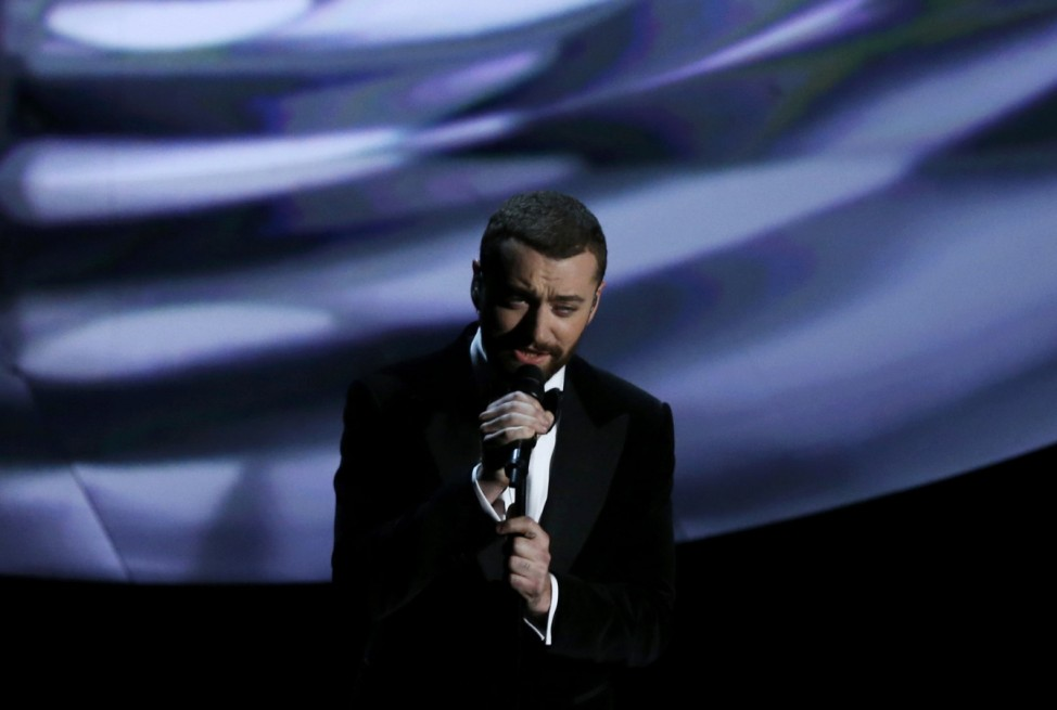 Singer Sam Smith performs his song 'Writing's on the Wall', which is nominated for Best Original Song at the 88th Academy Awards in Hollywood