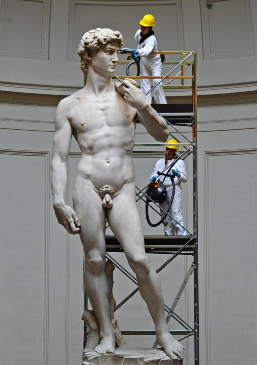 Cleaning operations and half-yearly maintenance for Michelangelo'
