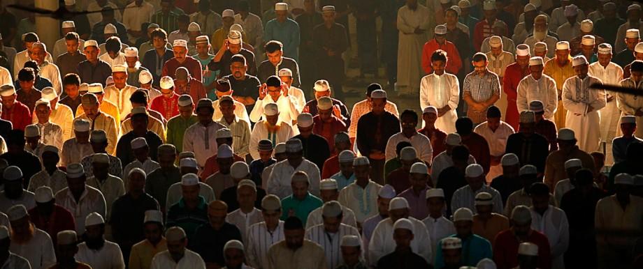 Muslims attend Eid al-Adha morning prayers