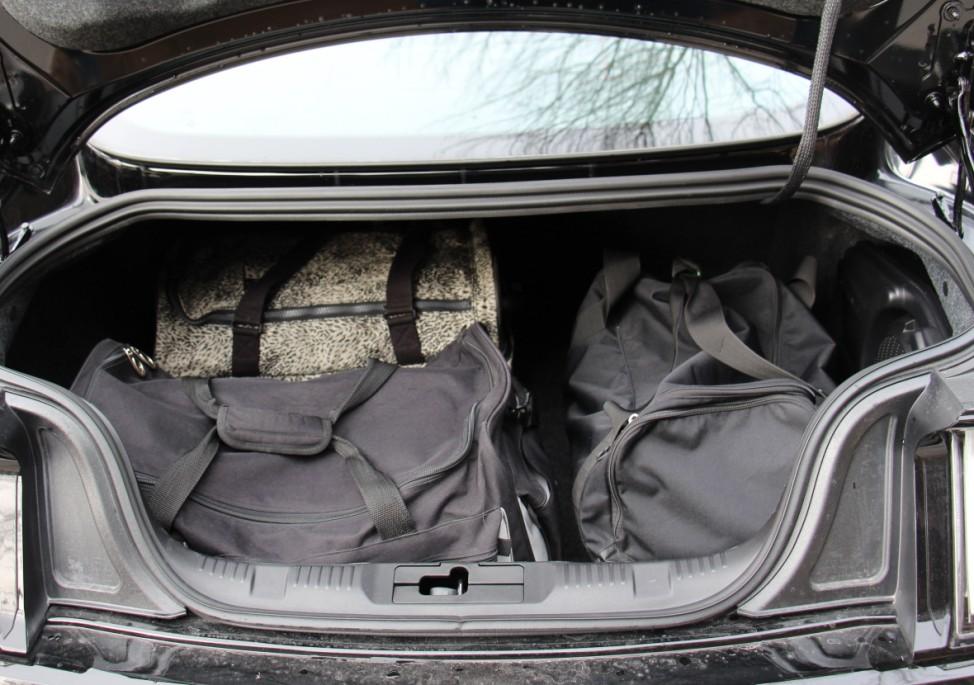 Der Kofferraum des Ford Mustang 2.3 EcoBoost.
