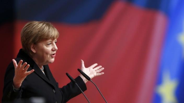 Angela Merkel bewahrt in der Flüchtlingskrise Haltung