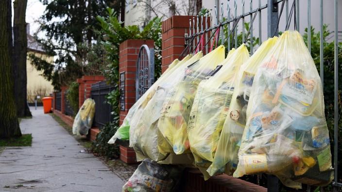 Gelbe Müllsäcke