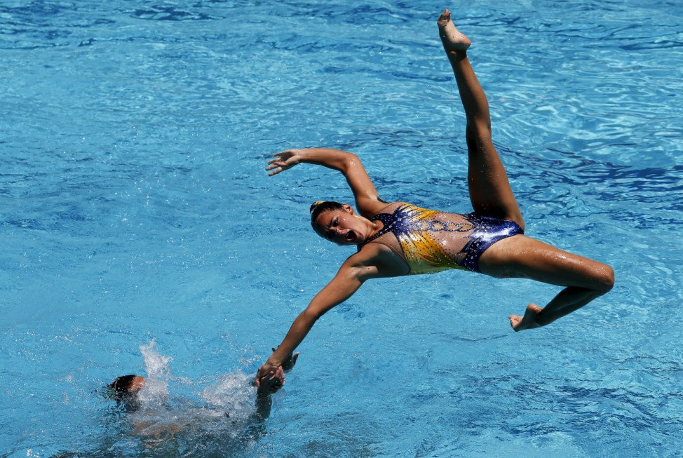 Synchronized swimming -  Olympic Games Qualification Tournament - Women's team final free routine