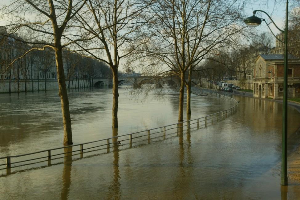 Seine River Floods In Paris