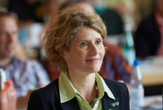 Die rheinland pfälzische Wirtschaftsministerin Eveline Lemke am 20 06 2015 beim Landesparteitag von