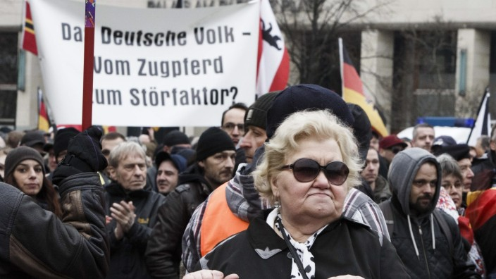 Right-Wing Groups March In Berlin On Eve Of State Elections