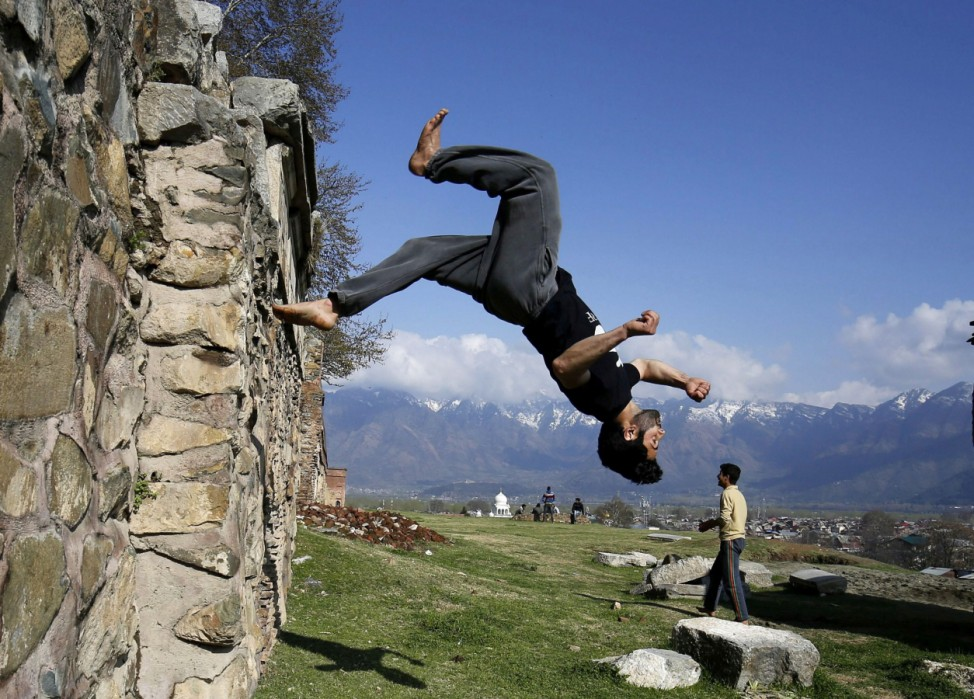 Photo essay Kashmiri youth practicing Parkour in Srinagar on the