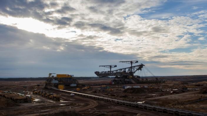 Vattenfall AB's Lignite Coal Mine And Surrounding Village