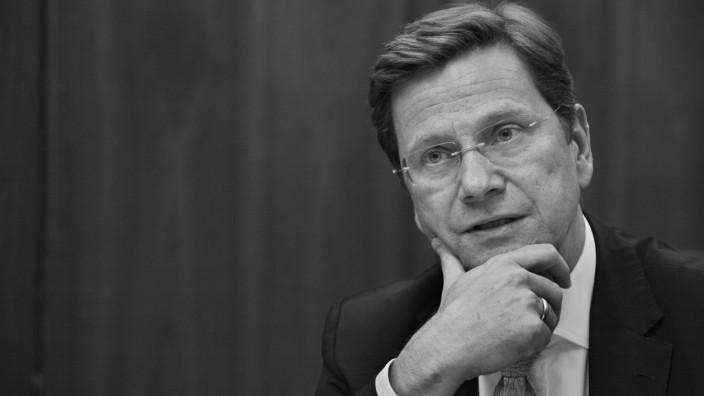 Nachruf auf Guido Westerwelle: Guido Westerwelle.