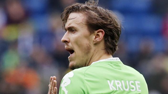 Fußball-Bundesliga: Erst am Mittwoch wieder im Training dabei: Wolfsburgs Max Kruse.